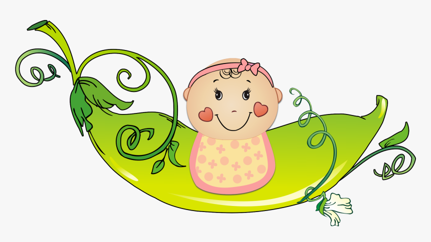 Baby Girl Monkey Clip Art - Baby With Ribbon Clipart, HD Png Download, Free Download