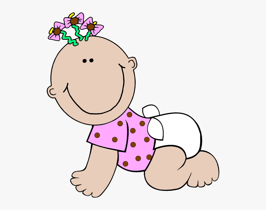 Transparent Baby Girl Clip Art - Baby Girl Clipart, HD Png Download, Free Download