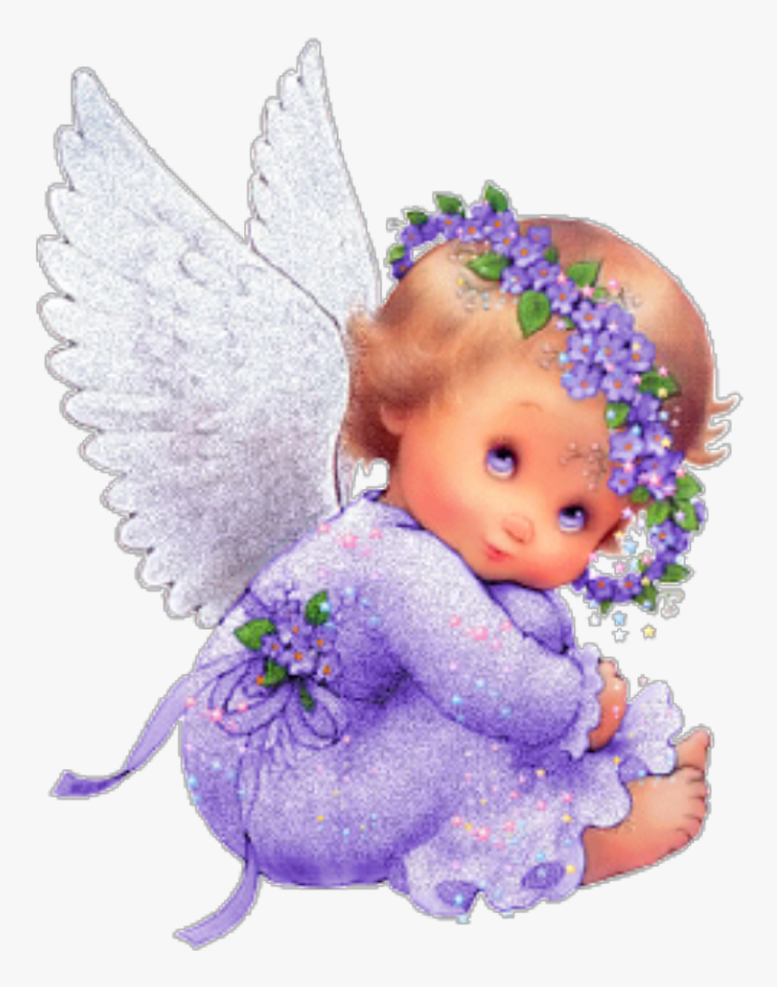 Ftestickers Baby Girl Angel Clipart Cute - Good Morning Baby Angel, HD Png Download, Free Download