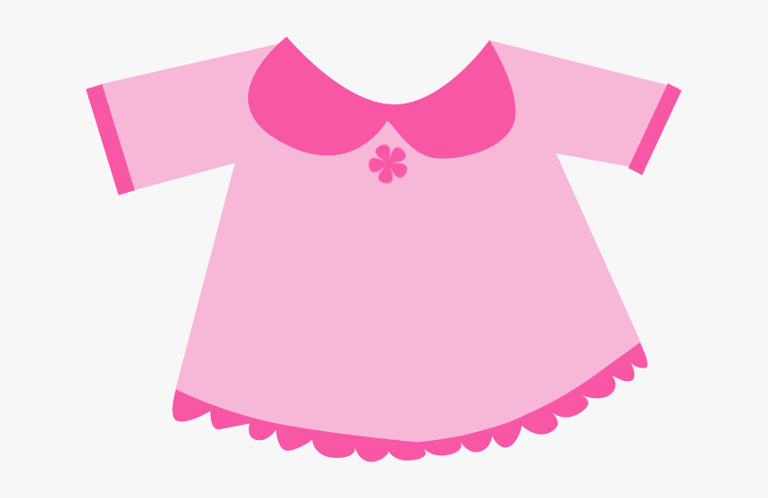 Tshirt Clipart Little Girl Clothes - Baby Pink Dress Clipart, HD Png Download, Free Download