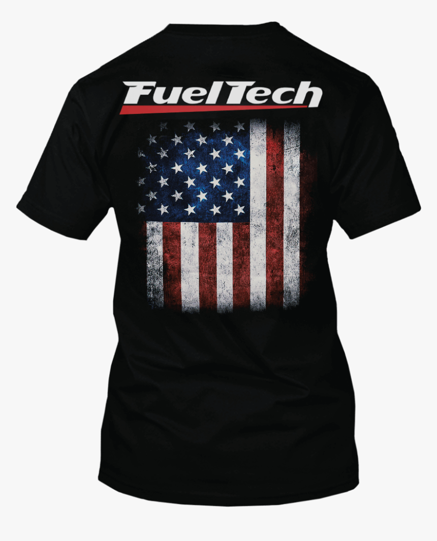 Fueltech Usa Flag T-shirt - You Don T Have To Worry About My Pitbull Shirt, HD Png Download, Free Download