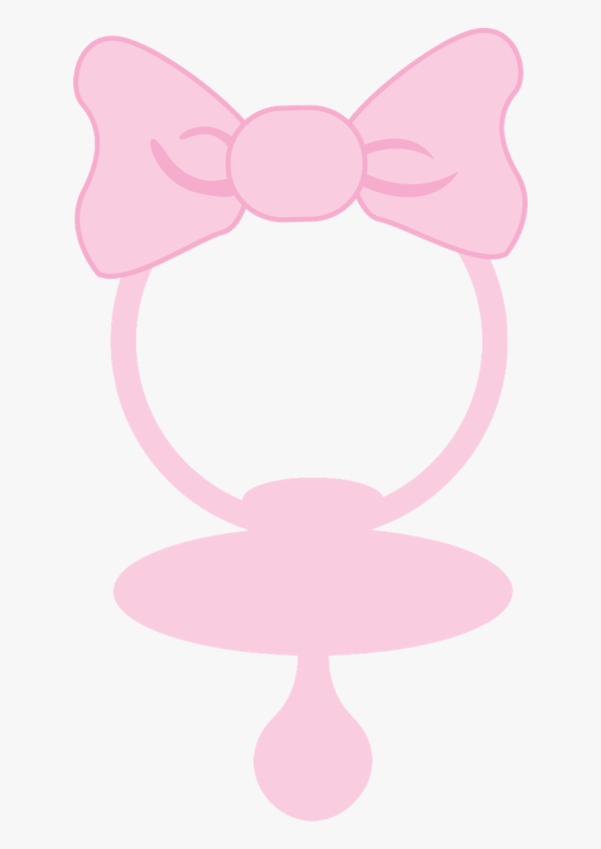 Pacifier Clipart Baby Girl - Baby Girl Pacifier Clipart, HD Png Download, Free Download