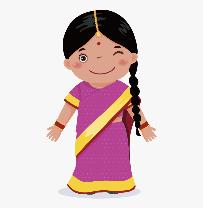 Graphic Royalty Free Download Black Baby Girl Clipart - Clipart Indian Child, HD Png Download, Free Download
