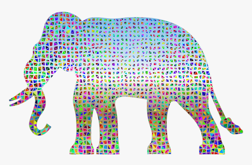 Pink,art,area - Sample Elephant Drawing Design, HD Png Download, Free Download