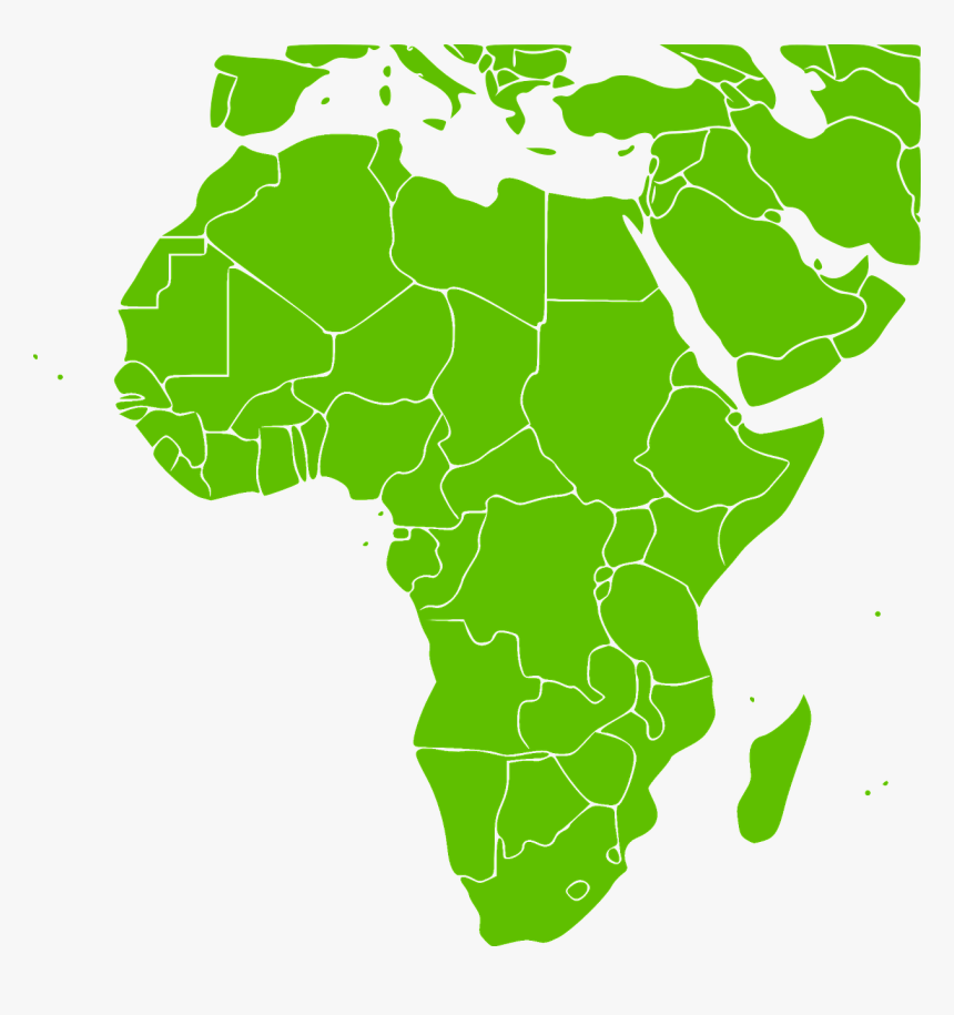 Green Africa Map Africa Map Green, HD Png Download   kindpng