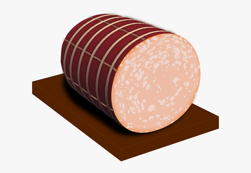 Sausage, Sliced, Pork, Food - Deli Meat Clip Art, HD Png Download, Free Download