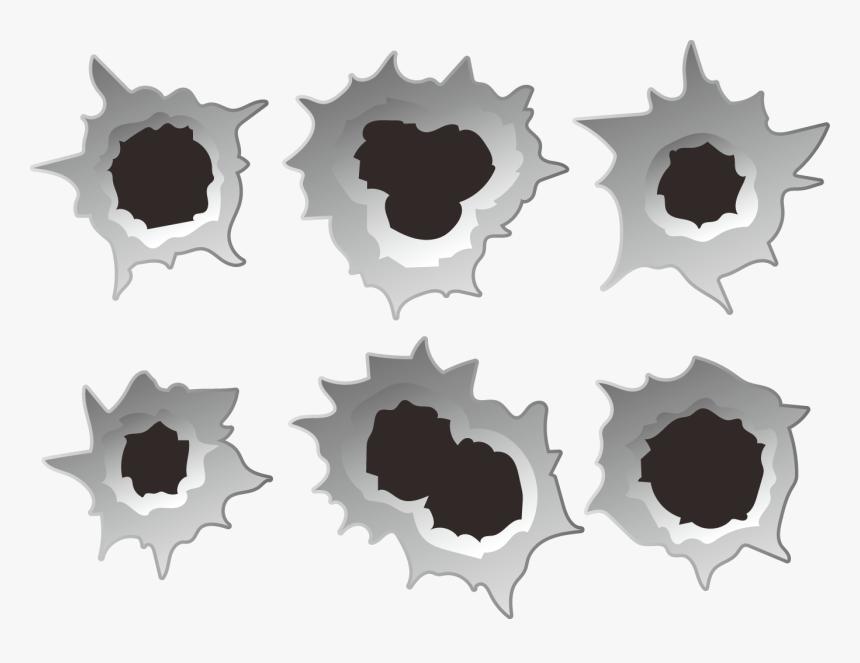 Bullet Euclidean Vector Clip Art - Vector Bullet Hole Png, Transparent Png, Free Download