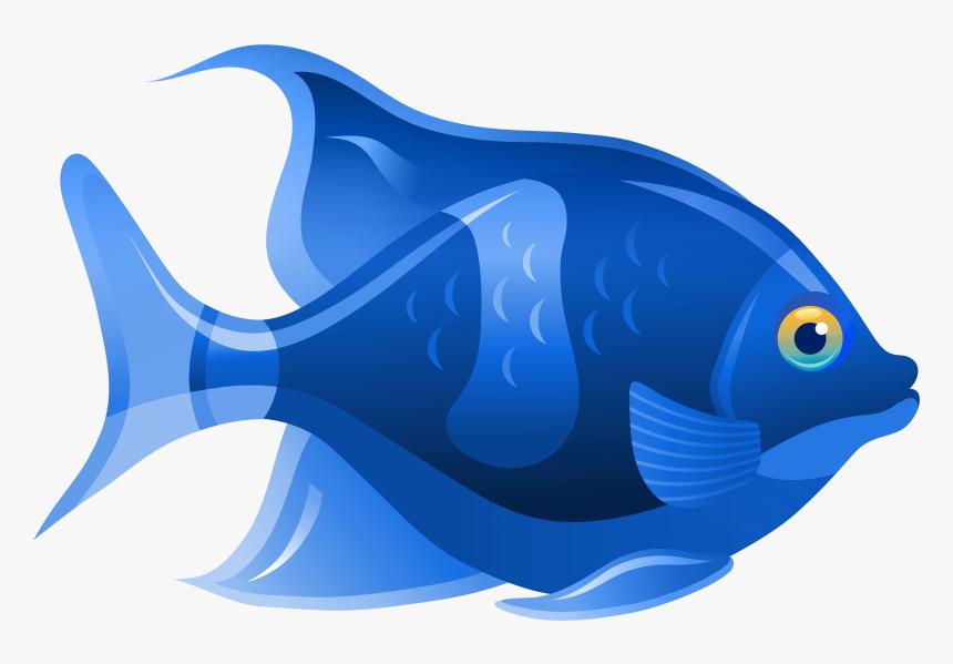 Blue Fish Png Clip Art - Clip Art Fish, Transparent Png, Free Download