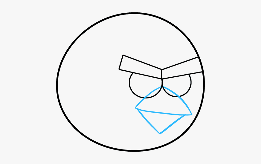 How To Draw Angry Birds Drawing Angry Birds Cartoon Hd Png Download Kindpng