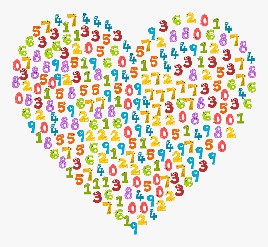 Number Animals Heart - Math For Kids, HD Png Download, Free Download