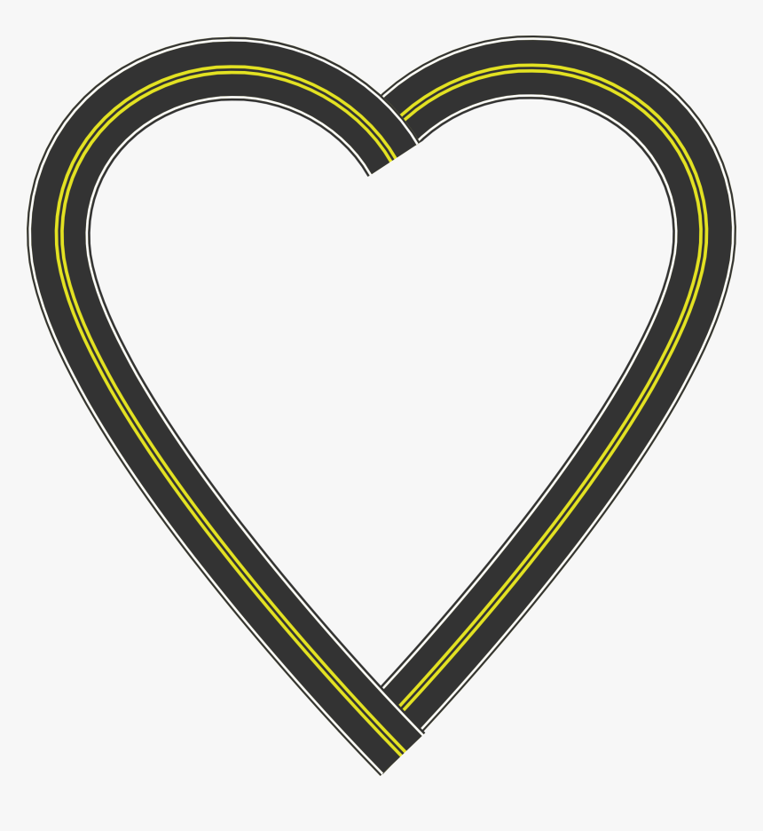 Clip Art Openclipart Heart Image Road - Road Heart Clipart, HD Png Download, Free Download