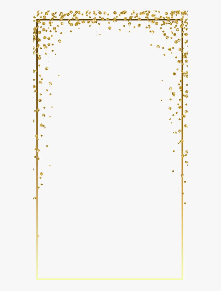 Gold Glitter Confetti Border Png - Glitter Confetti Border Png, Transparent Png, Free Download