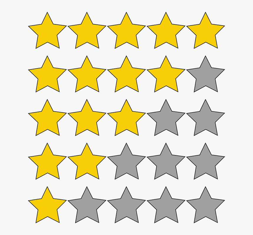 Ratings Stars Quality Best Ranking Performance Transparent