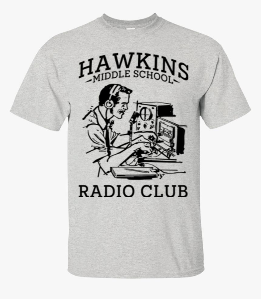 Hawkins Middle School Radio Club T-shirt - 60th Birthday Family T Shirts, HD Png Download, Free Download