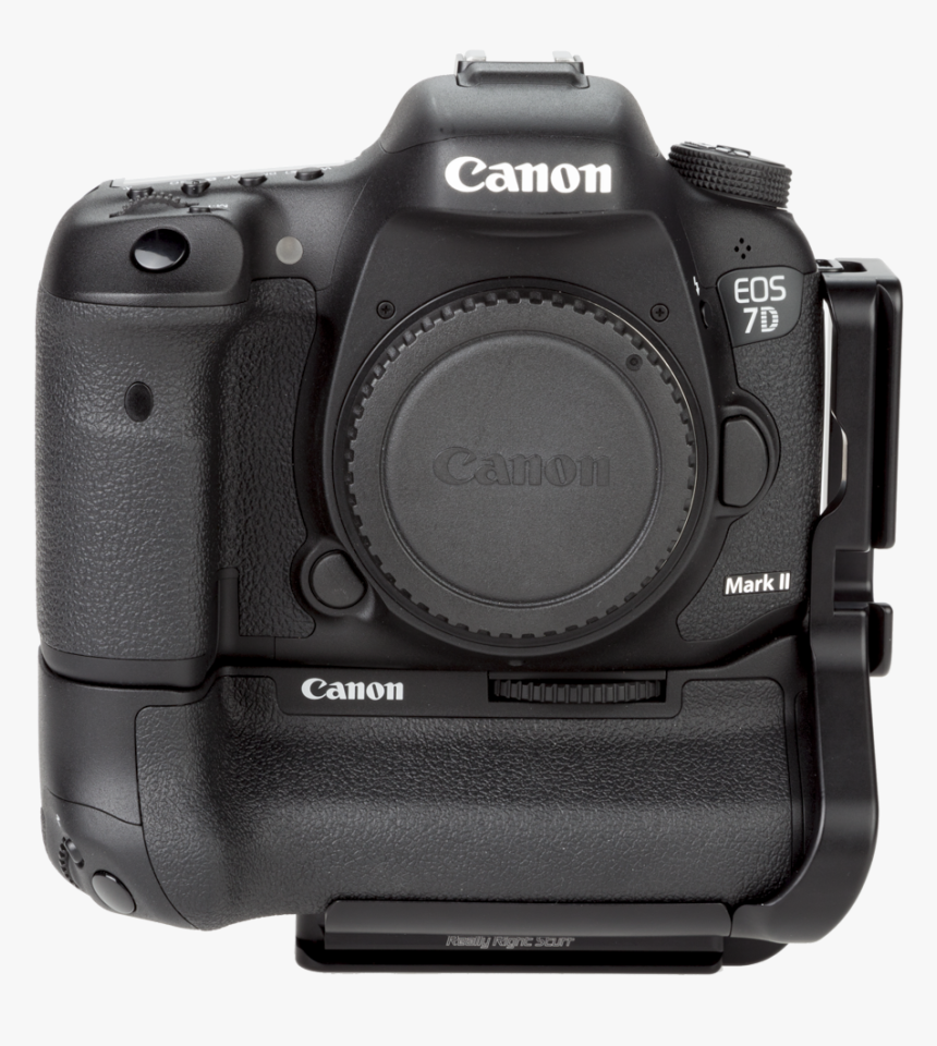 Bge16 Aluminum L Plate Attached To Canon Camera With - Canon 80d With Battery Grip, HD Png Download, Free Download