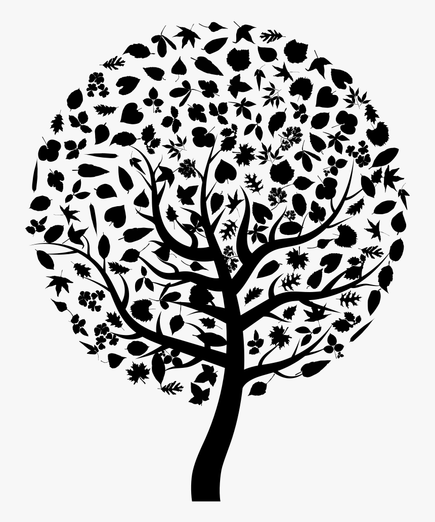Tree Silhouette Clip Art - Clip Art Tree Silhouette, HD Png Download, Free Download