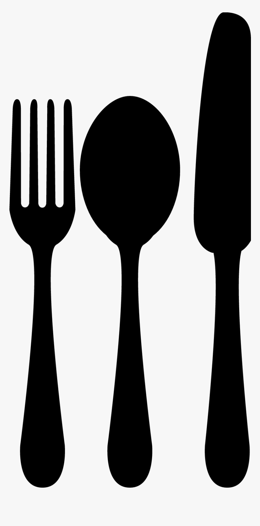 Spoon Fork Knife - Fork Spoon Knife Clipart, HD Png Download, Free Download
