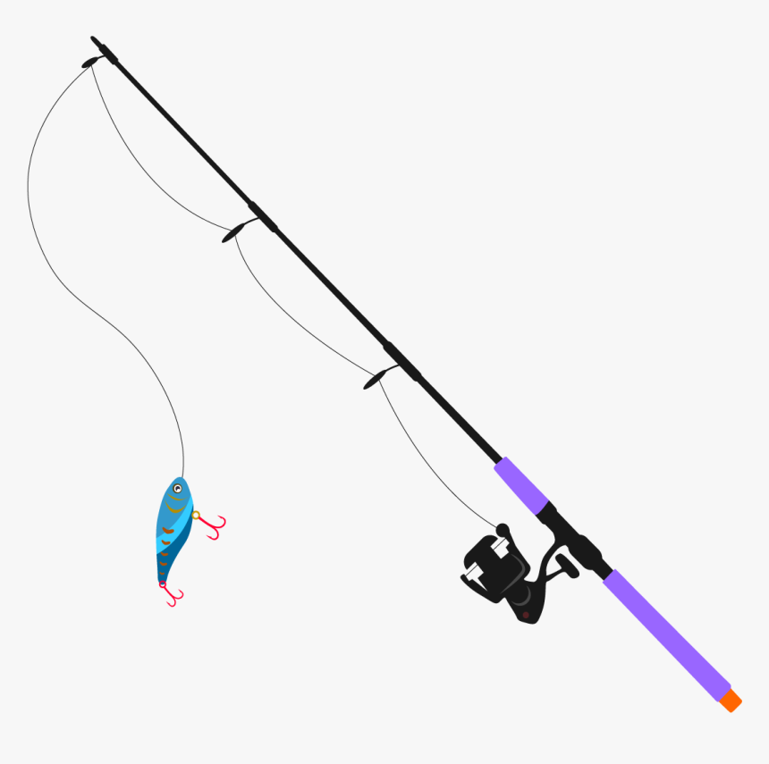Fishing Pole Clipart Png Image01 - Transparent Background Fishing Pole Clipart, Png Download, Free Download