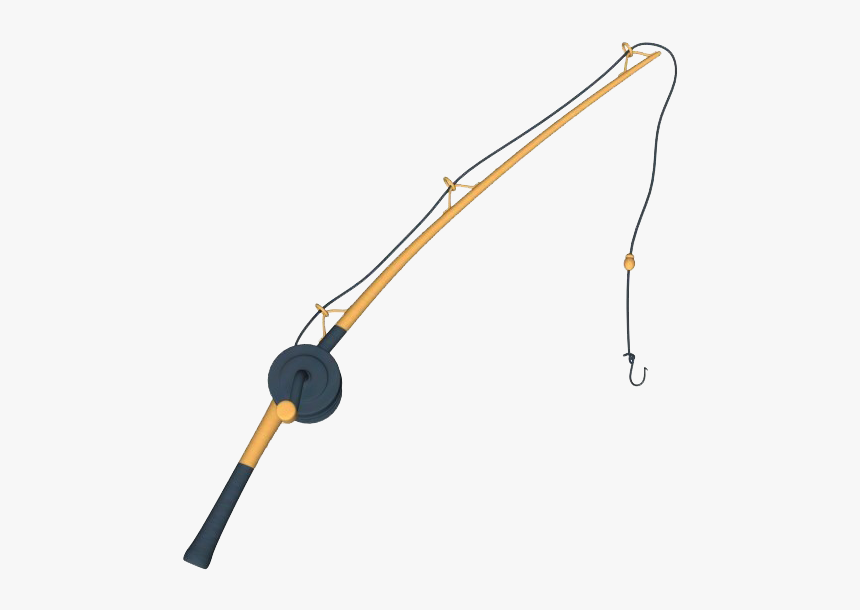 Fishing Pole Free Download Png - Transparent Background Fishing Pole Clipart, Png Download, Free Download