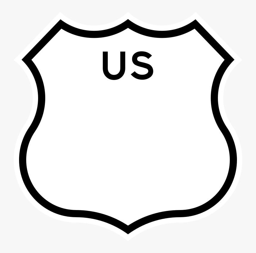 Us Blank - Us Highway Sign, HD Png Download, Free Download