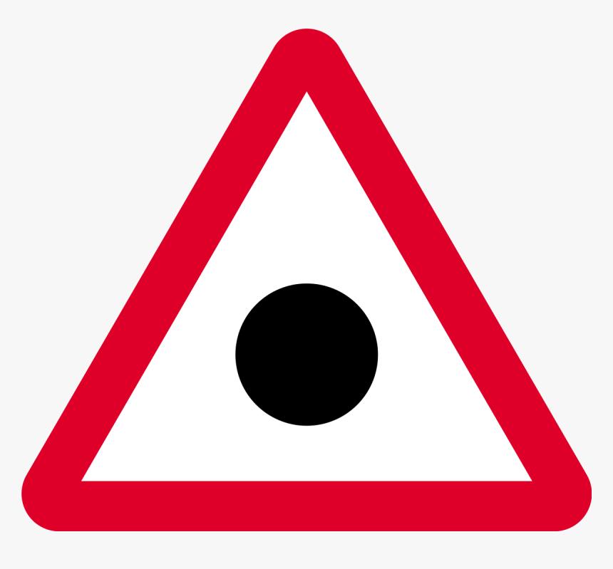 Black Dot Road Sign, HD Png Download, Free Download