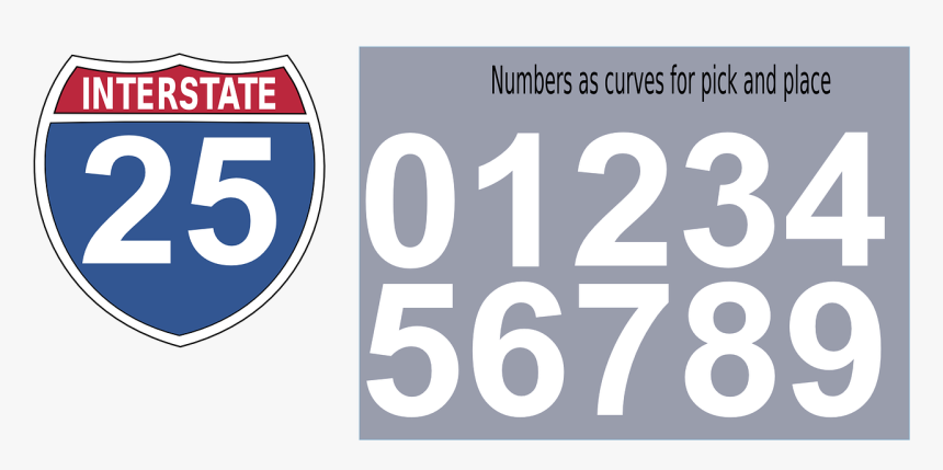 Interstate Highway Sign Vector, HD Png Download, Free Download