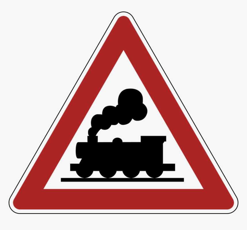 Railway Crossing Road Sign Clip Arts - Train Silhouette, HD Png Download, Free Download