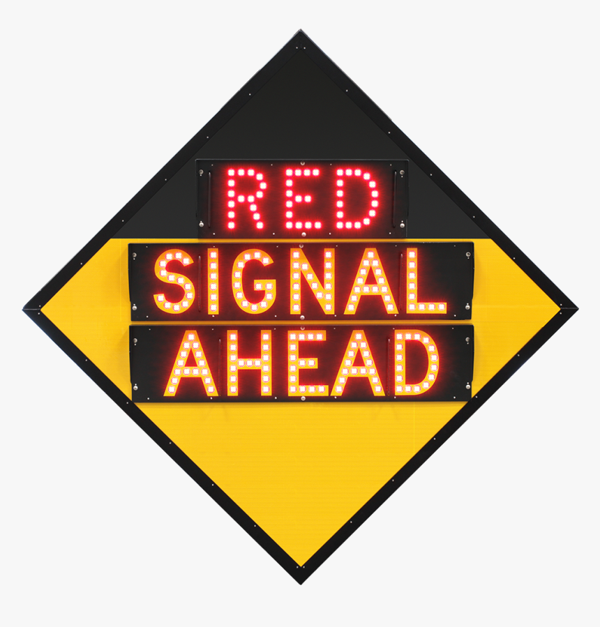 """ Signal Ahead"" Advance Traffic Light Warning Road - Traffic Sign, HD Png Download, Free Download"