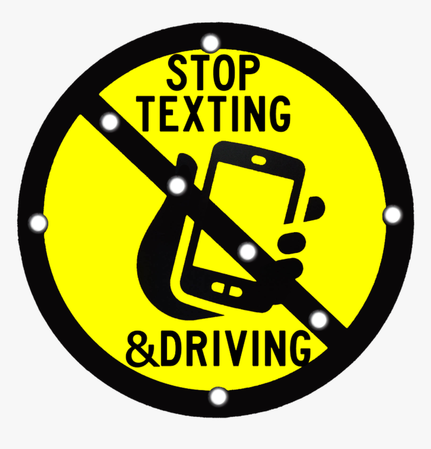 Stop Texting & Driving Led Solar Flashing Sign - Nut Free Zone Anaphylaxis, HD Png Download, Free Download