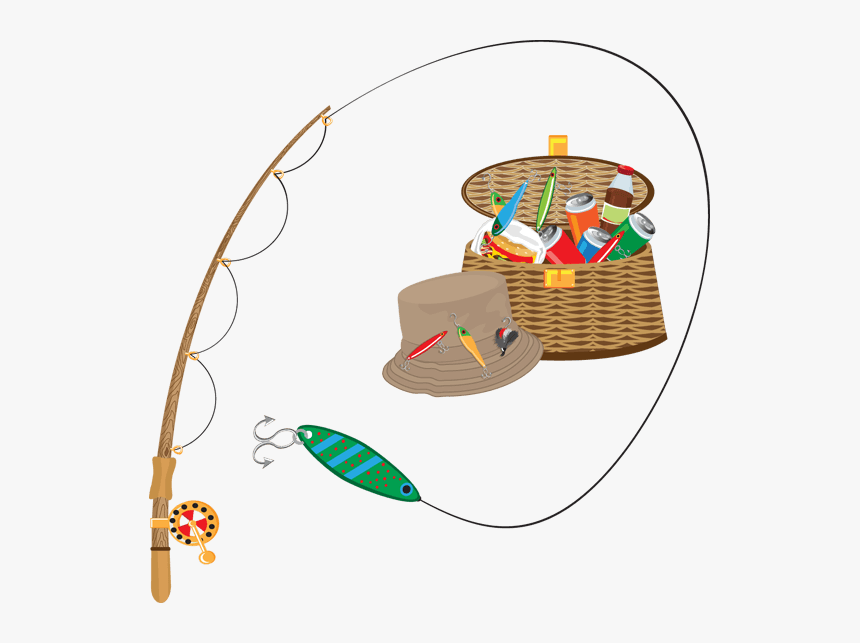Fishing Supplies Clipart - Clip Art Fishing Gear, HD Png Download, Free Download
