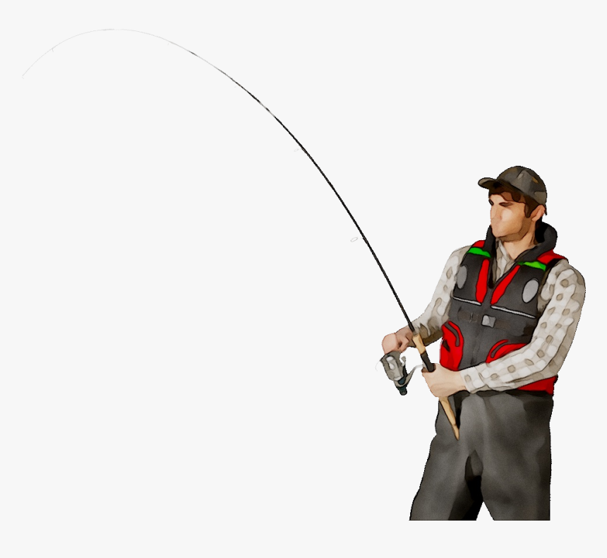 Fishing Rods Fisherman Portable Network Graphics Clip - Fisherman Transparent Background, HD Png Download, Free Download