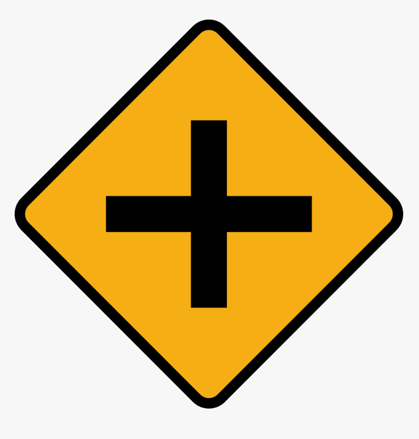 Diamond Road Sign Junction Crossroads - Crossroads Sign, HD Png Download, Free Download