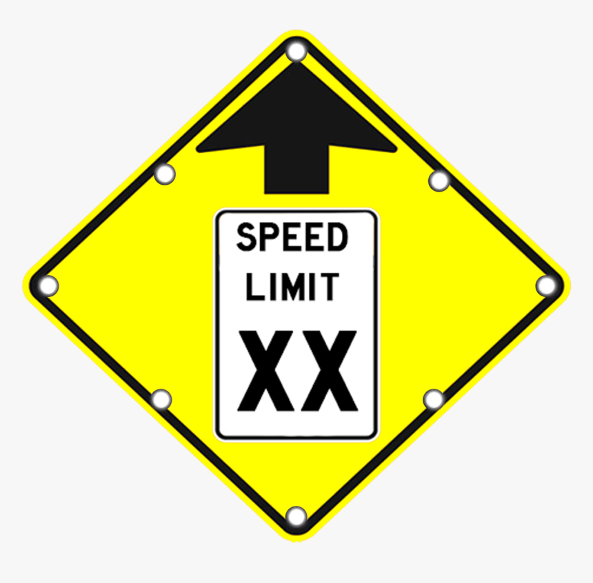Speed Limit Ahead Sign - Speed Limit Warning Sign, HD Png Download, Free Download