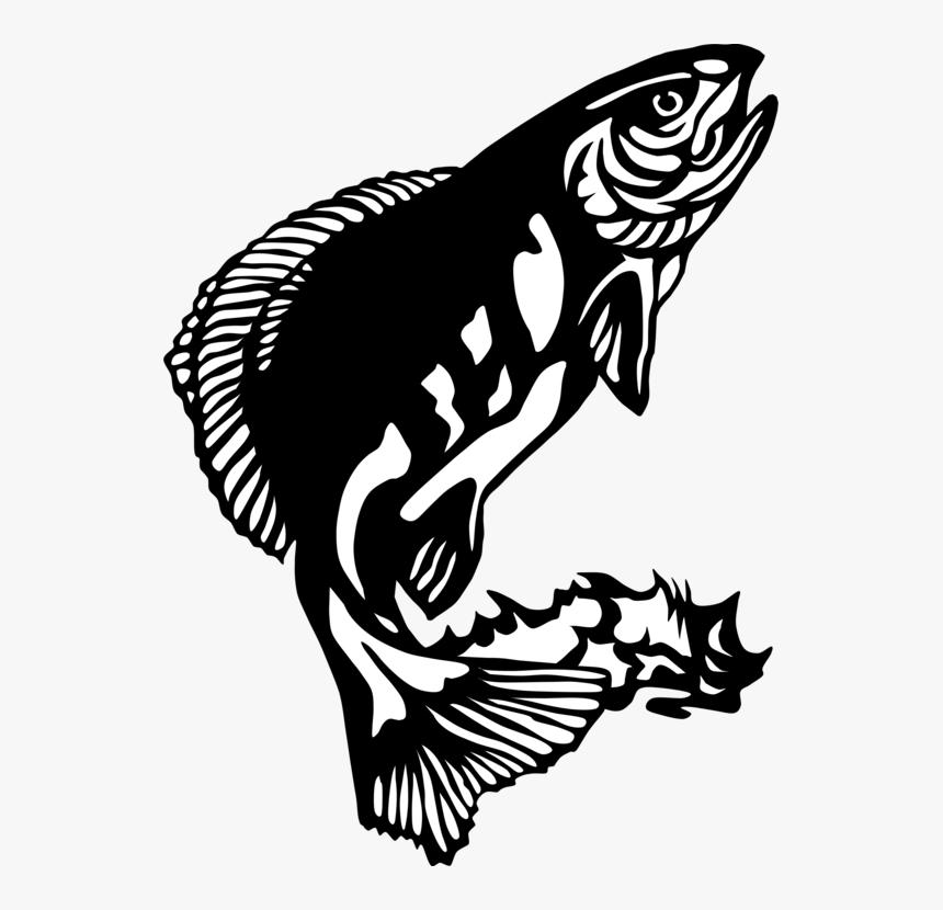 Png Black Bass Fishing Rod - Fish Clip Art, Transparent Png, Free Download