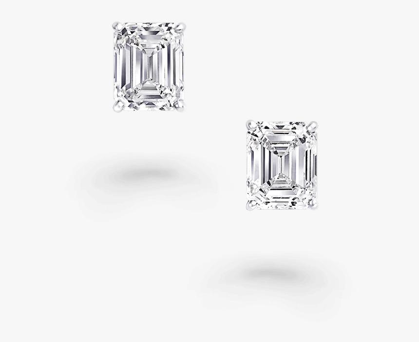 Emerald Diamond Graff Stud Earrings, HD Png Download, Free Download