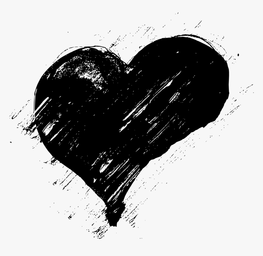 Freetoedit Remixit Grunge Pattern Shape Icon Brush - Heart Shaped Brush Png, Transparent Png, Free Download