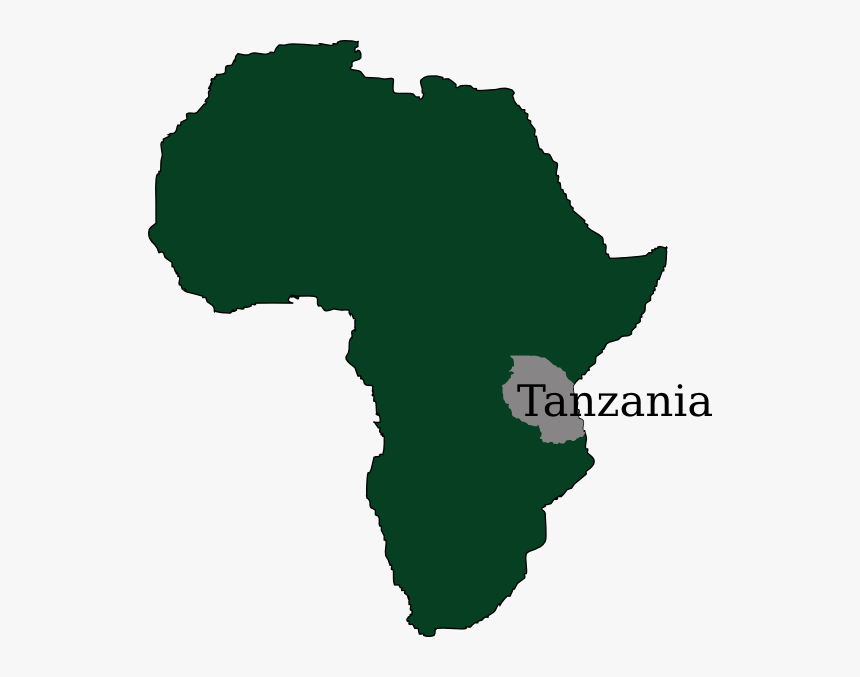 Tanzania Map Hi - Africa Map Solid Color, HD Png Download, Free Download
