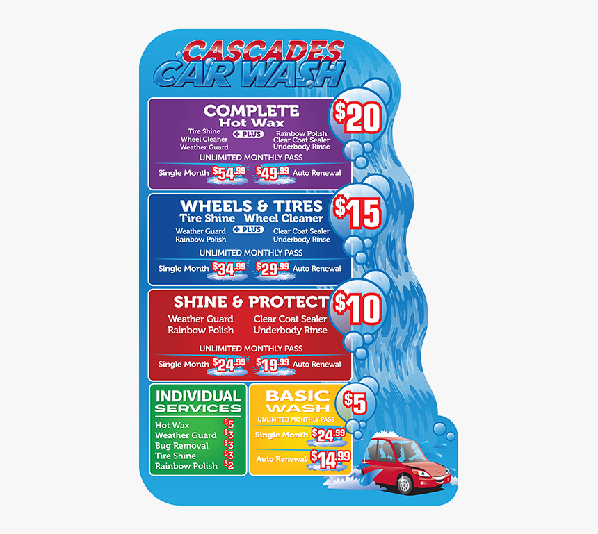 Picture - Cascades Car Wash Hurst Tx, HD Png Download, Free Download