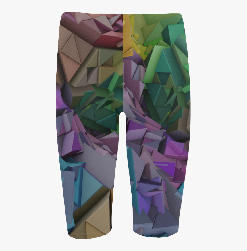 Colorful 3d Low Poly Abstract Geometric Shapes Hestia - Board Short, HD Png Download, Free Download