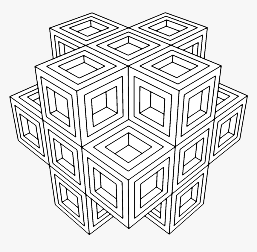Coloring Page For Adults Geometric, HD Png Download, Free Download