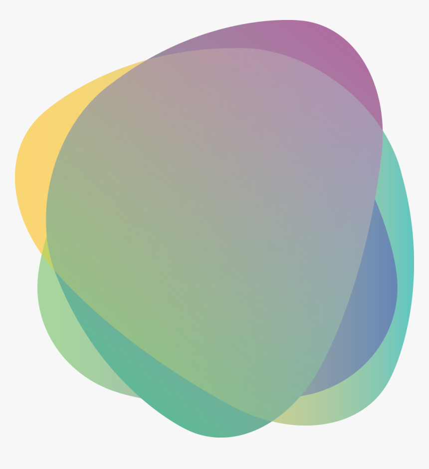 Green Yellow Purple Stone Shape Abstract Banner - Oval Shape Banner Png, Transparent Png, Free Download