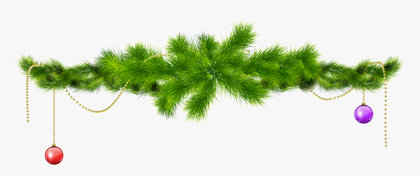 Transparent Pine Branch With Christmas Balls Png Clipart - Christmas Tree Branch Clip Art, Png Download, Free Download
