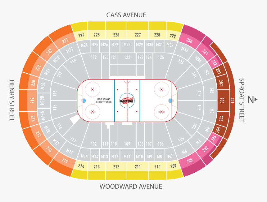 Season Ticket Plans Little Caesars Arena Detroit Red - Little Caesars Arena Seating Chart Red Wings, HD Png Download, Free Download
