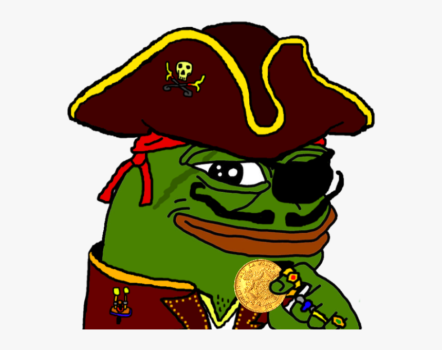 Pepe The Frog Pirate, HD Png Download - kindpng