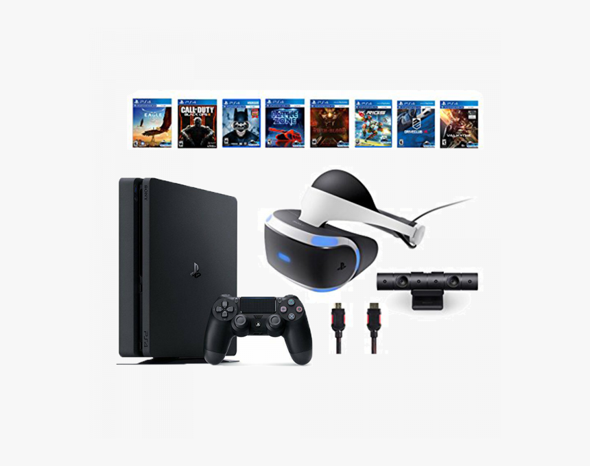 Playstation Vr Bundle 10 Items - Playstation 4 Vr Headset Games, HD Png Download, Free Download