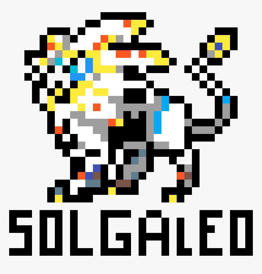 Pixel Art Solgaleo Png Download Pixel Art Pokemon Legendaire Transparent Png Kindpng