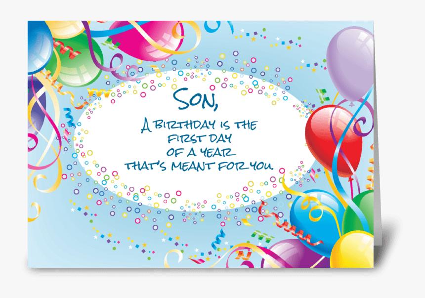 Awe Inspiring Son Birthday Balloons Greeting Card Son In Law Birthday Hd Png Funny Birthday Cards Online Alyptdamsfinfo