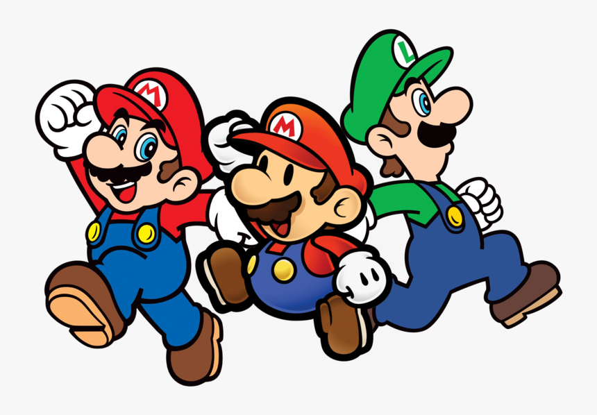 Mario With Friends Image - Mario And Paper Mario, HD Png Download, Free Download