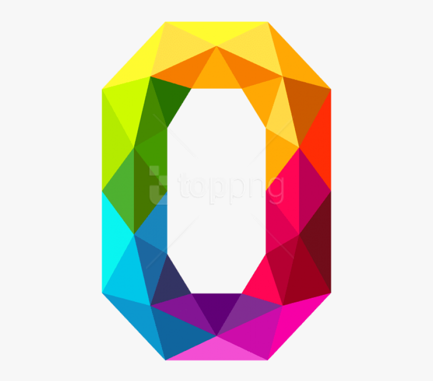 Free Png Download Colourful Triangles Number Zero Clipart - 0 Clipart, Transparent Png, Free Download