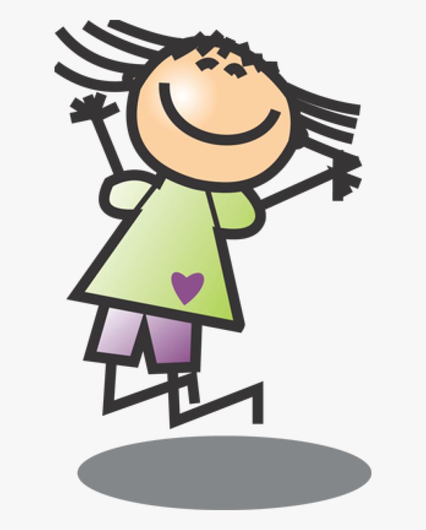 Girl Doing Happy Dance Png Download Stick Figure Kids Clip Art Transparent Png Kindpng